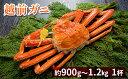 【ふるさと納税】越前ガニ 約1.2kg 1杯 【ずわい蟹/ボ...