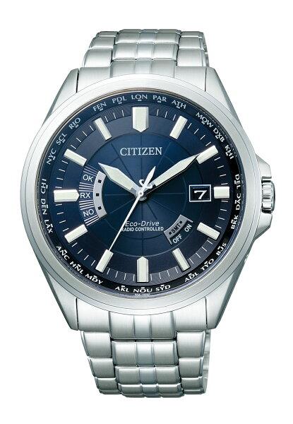 ふるさと納税 シチズンエコ・ドライブ電波時計メンズCB0011-69L<BOX付>腕時計時計