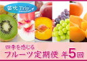 【ふるさと納税】フルーツ定期便≪彩≫全5回 旬の果実をお届け