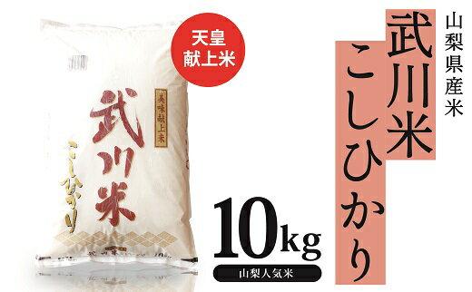 【ふるさと納税】山梨県産 武川米こしひかり10kg...