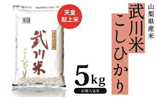 【ふるさと納税】山梨県産 武川米コシヒカリ 5kg...