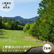 【ふるさと納税】上野原カントリークラブ(平日)1Rプレー券(2名様)