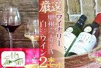 B2-660.厳選ワイナリーの甲州ベーリーA赤白ワイン2本セット(MG)