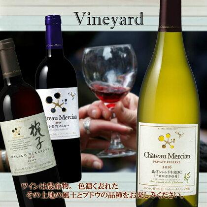 【Chateau Mercian】ヴィンヤード (栽培畑) を楽しむ 3本セット R510☆日本のフィネス&エレガンス☆
