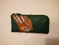 【ふるさと納税】「鞄工房 香」リス柄長財布