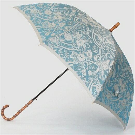 【ふるさと納税】槙田商店【晴雨兼用】長傘 kirie 更紗:レイクブルー