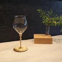 【ふるさと納税】木と硝子のグラス耐熱グラス(300ml)2脚