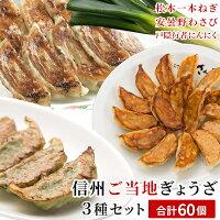 【ふるさと納税】信州ご当地餃子セット20個入り×3種