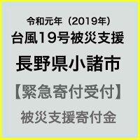 【ふるさと納税】【令和元年台風19号災害支援緊急寄附受付】長野県小諸市災害応援寄附金(返礼品はありません)