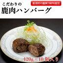 【ふるさと納税】【今だけ!ハンバーグ2個増量!】手作り鹿肉ハンバーグ 10個→12個!入り