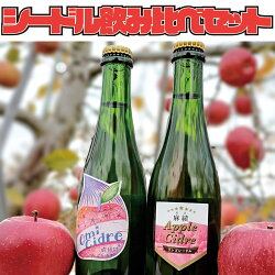 【ふるさと納税】麻績村産りんごで作ったシードル飲み比べセット麻績村産ふじで作ったお酒消しゴムハンコラベル数量限定2018年2019年アルコール度数8%