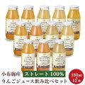 【ふるさと納税】小布施産りんごジュース飲み比べ6種セット