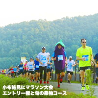 【ふるさと納税】第17回小布施見にマラソン大会エントリー権と旬の果物コース