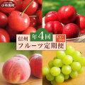 E-2【4ヶ月頒布会】6〜9月小布施のフルーツ4ヶ月コース