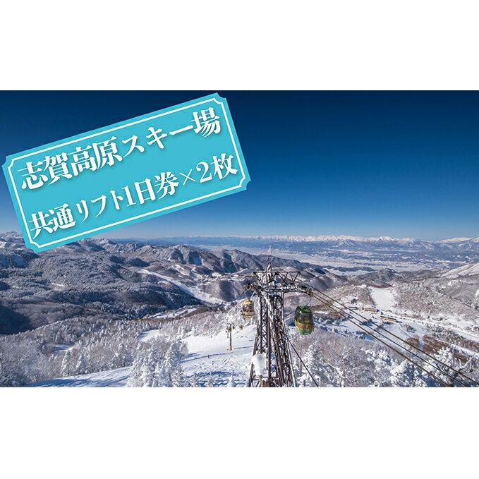 【ふるさと納税】志賀高原スキー場共通リフト券【1日券2枚】 【スキーチケット】 お届け:2020年11月10日〜2021年3月15日