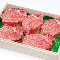 【ふるさと納税】とび飛騨牛ヒレステーキ5枚750g≪冷凍≫白木箱入e505