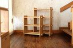 【ふるさと納税】【オークヴィレッジ】組み立て棚3段・4段セット ナチュラル〔国産材 木製家具〕インテリア 無垢 f149