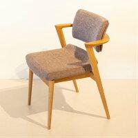 【ふるさと納税】【飛騨の家具】飛騨産業立ち上がりたくない椅子セミアーム(ホワイトオーク)g137