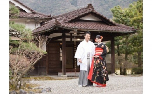 【ふるさと納税】文化財 川上別荘・後藤別荘で撮影する和装&洋装婚礼写真