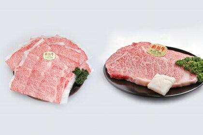 氷温熟成特選飛騨牛A5等級ロース肉ステーキ 200g×4枚 と 飛騨牛A5等級肩ロース肉すき焼き 900g詰め合わせ 急速冷凍 (しゃぶしゃぶ対応可能)