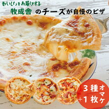 【ふるさと納税】<牧成舎>自家製チーズたっぷりピザ4枚セット(直径24cm)[B0009]