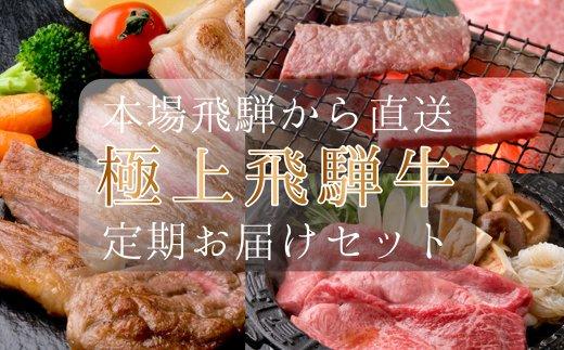 【ふるさと納税】【定期便】本場!飛騨直送!!極上飛騨牛セット