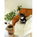 【ふるさと納税】Cloudy Hand Knit Blanket LLサイズ オフホワイト MWCA-000【1064367】