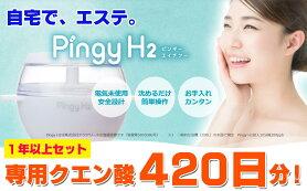 【ふるさと納税】家庭で気軽に!電気を使わない水素風呂入浴器PingyH2専用クエン酸が420日分!
