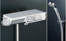 サーモスタット式シャワー付ワンタッチ混合水栓「楽ダス」