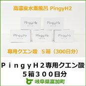 【ふるさと納税】PingyH2専用クエン酸5箱300日分*高濃度水素風呂