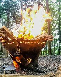 【ふるさと納税】焚き火台 コンパクト ANCAM(アナキャン) 組立式焚き火台「FIRE WHIRL」Mサイズ 静岡県富士宮市 画像1