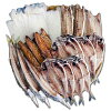 伊豆・伊東干物セット上トロあじ8枚鯖味醂3枚塩鯖3枚特上本かます3枚特大イカ2枚セットひもの佐々木海産の詰め合わせ【ふるさと納税】