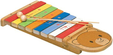 【ふるさと納税】カワイ おもちゃの木琴シロホンクマ