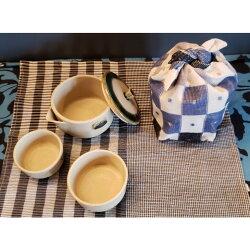 游茶具袋と茶具