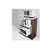【ふるさと納税】レンジ台[クリーヴ]幅60cm ブラウン 【インテリア・家具・収納・キッチン用品・レンジボード】