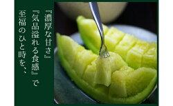 【ふるさと納税】クラウンメロン(白上級)1玉 箱入り 【果物類・メロン青肉・静岡県産・くだもの・フルーツ】 画像2