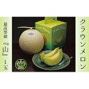 【ふるさと納税】クラウンメロン(山級)1玉 ギフト箱入り 【果物・マスクメロン・青肉】 1