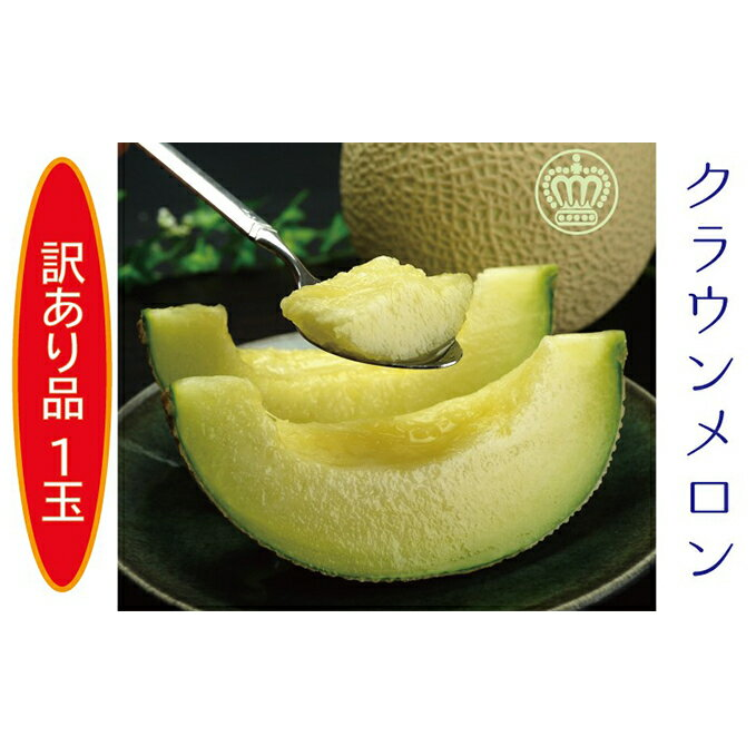 [訳あり]クラウンメロン 1玉入 [果物類・メロン青肉・ワケアリ]