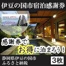 【ふるさと納税】010-001伊豆の国市宿泊感謝券(3枚)