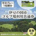 【ふるさと納税】ゴルフ場 体験 チケット 伊豆の国市ゴルフ場利用共通券 (平日プレー1名様分) 030-003