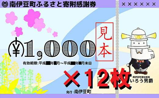 【ふるさと納税】南伊豆町ふるさと寄附感謝券12枚の商品画像