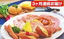 【ふるさと納税】自家製ドイツソーセージとドイツパンのセット(3カ月連続お届け) 【肉】