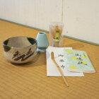瀬戸の抹茶碗と茶の湯セット織部