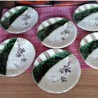 織部五寸丸皿(6枚セット)