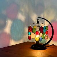【ふるさと納税】【Nijiiro Lamp】ステンドグラスのテーブルランプ チビ カラフル【1219661】