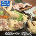 【ふるさと納税】元祖白だし濃厚スープ名古屋コーチン鍋セット(3〜4人前)H001-005
