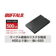 【ふるさと納税】BUFFALO/USB3.2(Gen1)ポータブルSSD TypeA&C 500GB 【電化製品・バッファロー・取扱説明書・500GB】