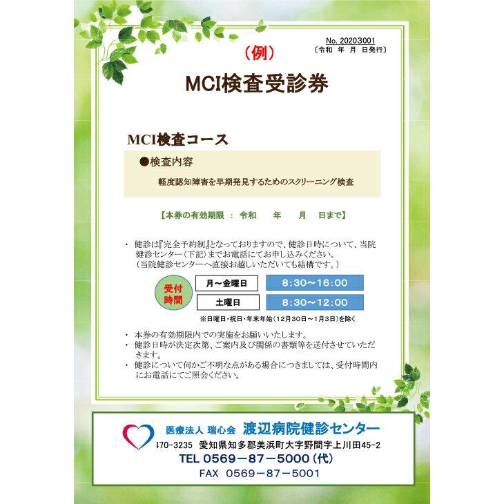 【ふるさと納税】MCI検査コースの紹介画像3