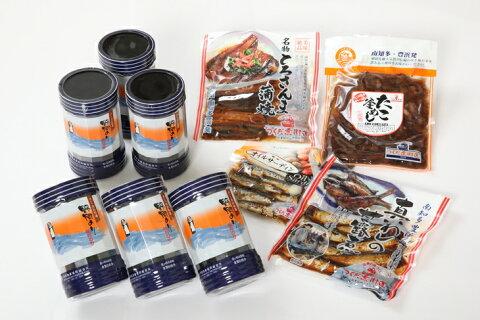 【ふるさと納税】味の詰め合せ・野間海苔(味付けのり)とつくだ煮セット