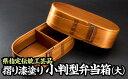 【ふるさと納税】NU-8 摺り漆塗り小判型弁当箱(大)